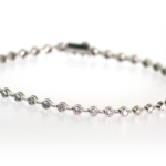 2.85 Carat Diamond and White Gold Bracelet