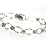 3.32 Carat Diamond and White Gold Bracelet
