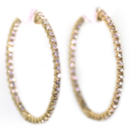 2.94 Carat Diamond and Yellow Gold Earrings