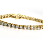 10.24 Carat Diamond and Yellow Gold Bracelet