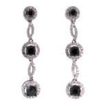 3.20 Carat Diamond and White Gold Earrings