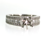 1.29 Carat Diamond Semi Mount Ring