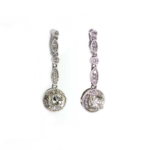 1.35 Carat Diamond and White Gold Earrings