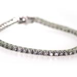 5.05 Carat Diamond and White Gold Bracelet
