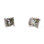 1.20 Carat Diamond and White Gold Earrings