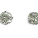 7.15 Carat Diamond and White Gold Earrings