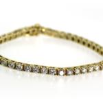 6.60 Carat Diamond and Yellow Gold Bracelet