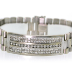 4.07 Carat Diamond and White Gold Bracelet