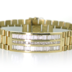 6.08 Carat Diamond and Yellow Gold Bracelet