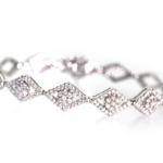 2.68 Carat Diamond and White Gold Bracelet