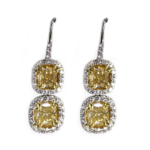 5.17 Carat Yellow Diamond Drop Earrings